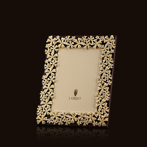 Decorative Home Accents Picture Frames L\'Objet F7001S Gold Garland w ...