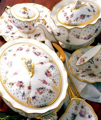 Royal Crown Derby Royal Antoinette & China Dinnerware Formal Dinnerware Royal Crown Derby ROYANT Royal ...